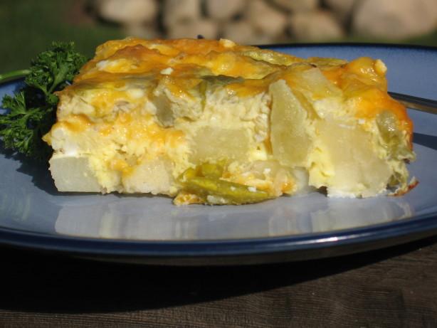 Cheesy Potato And Green Chili Breakfast Casserole Recipe - Food.com