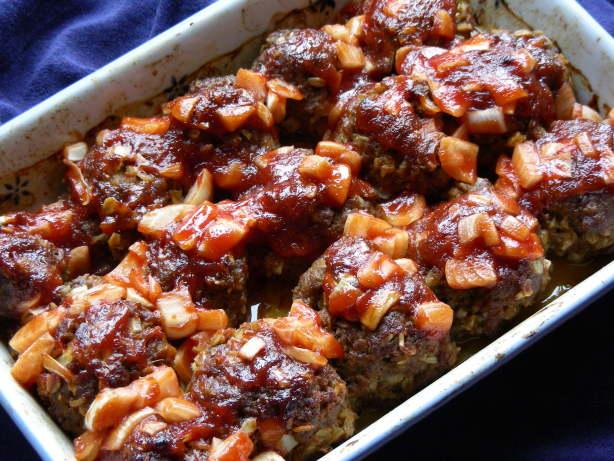 Barbecue Meatballs Recipe — Dishmaps