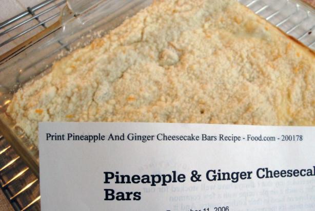 Pineapple And Ginger Cheesecake Bars Recipe - Food.com