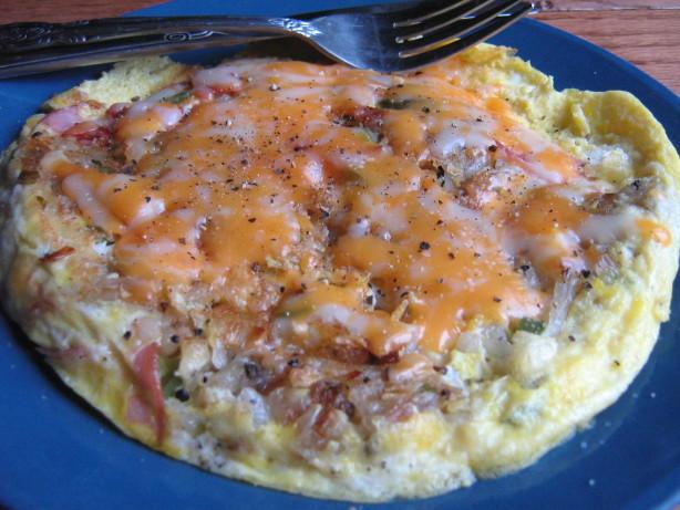 Cheesy Egg Potato And Ham Frittata Brunch Casserole Recipe ...