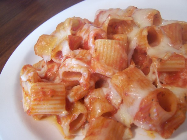 Italian Casserole Rigatoni And Cheese With Tomato Sauce) Recipe - Food ...