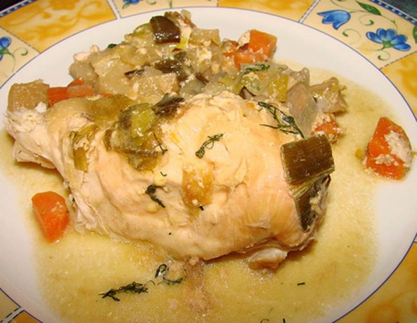 Chicken And Vegetables With Creamy Mustard-Herb Sauce Crock Recipe ...