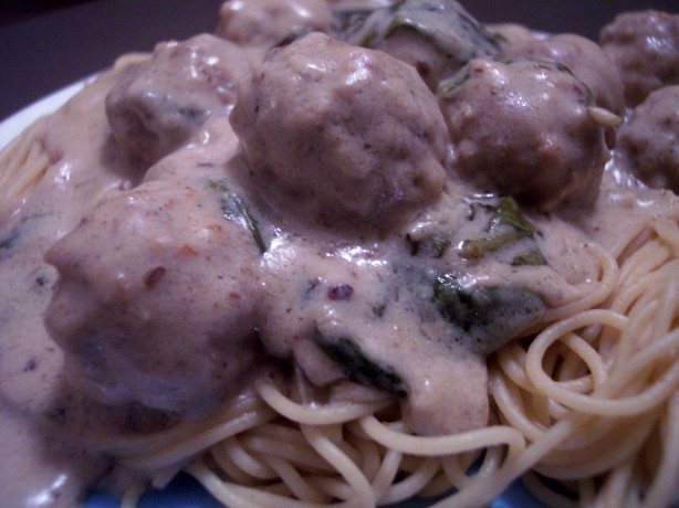 Italian Meatballs In Spinach Cream Sauce Recipe - Food.com