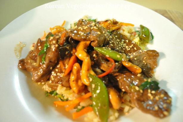 Korean Vegetable-Beef Stir Fry Recipe - Food.com