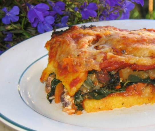 Polenta Lasagna With Feta And Kale Recipe - Greek.Food.com