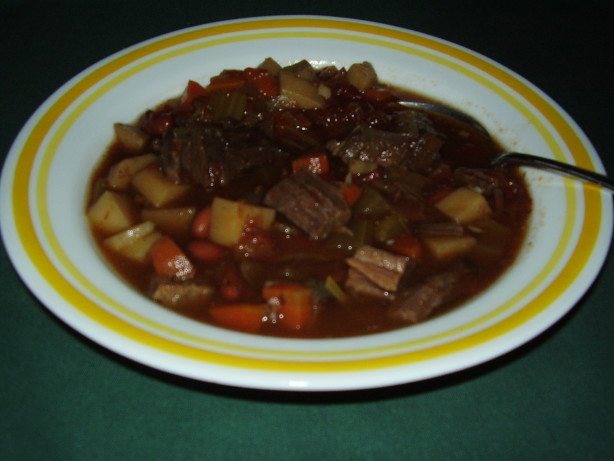 Hearty Beef And Rice Minestrone Soup RecipeThanksgiving.Food.com