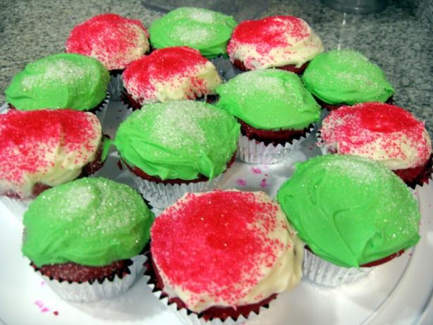 Festive Deep Red Velvet Christmas Cupcakes Recipe - Food.com
