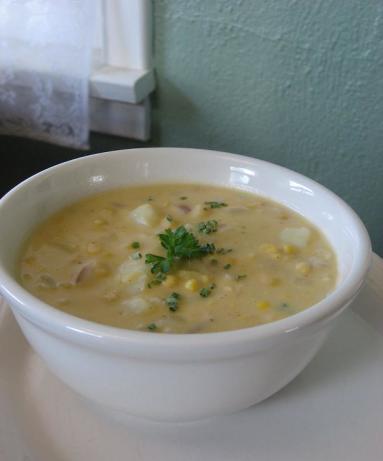 Corn And Cheddar Cheese Chowder Recipe - Food.com
