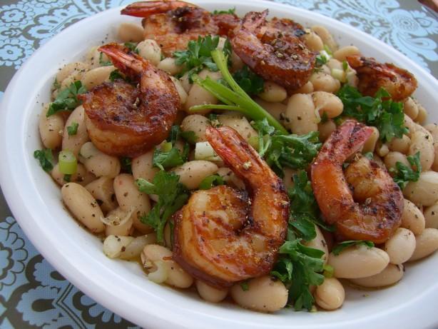 Shrimp With Cannellini Bean Salad Recipe - Food.com