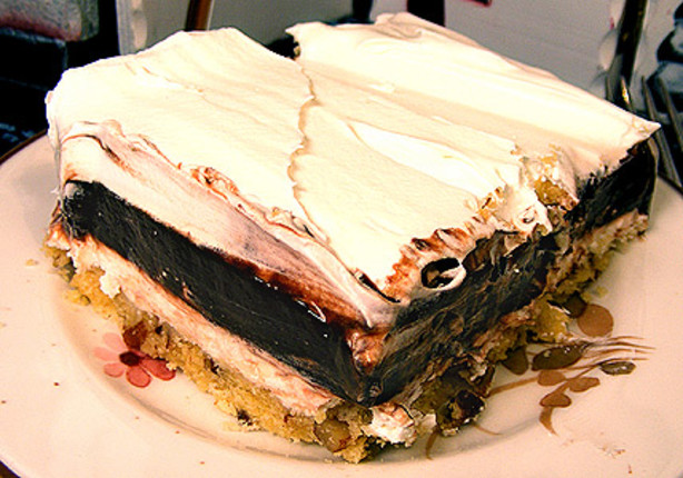 Good Layered Cake Recipes: Gretchens 4 Layer Chocolate Dessert Recipe