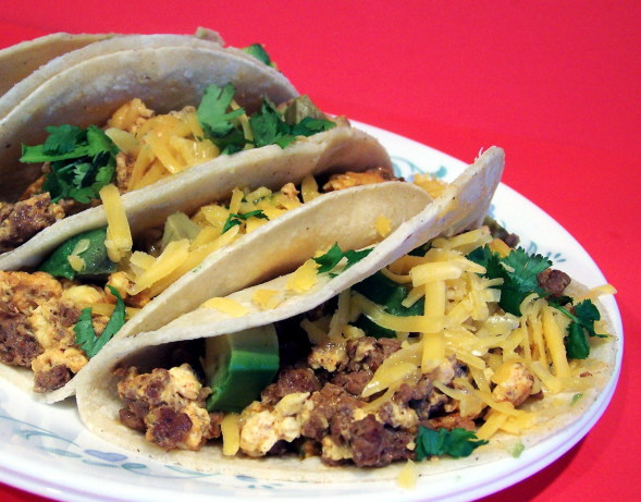 Chorizo And Scrambled Egg Breakfast Tacos Recipe - Food.com