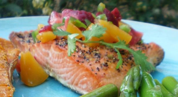 Salmon Or Halibut With Fruit Salsa Recipe - Food.com