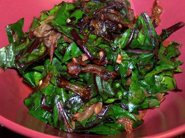 Beet Greens With Caramelized Onions Recipe - Food.com