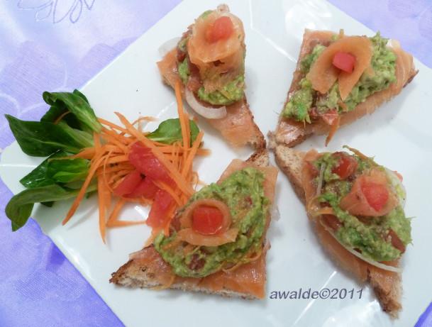 Guacamole-Smoked Salmon Bruschetta Recipe - Food.com