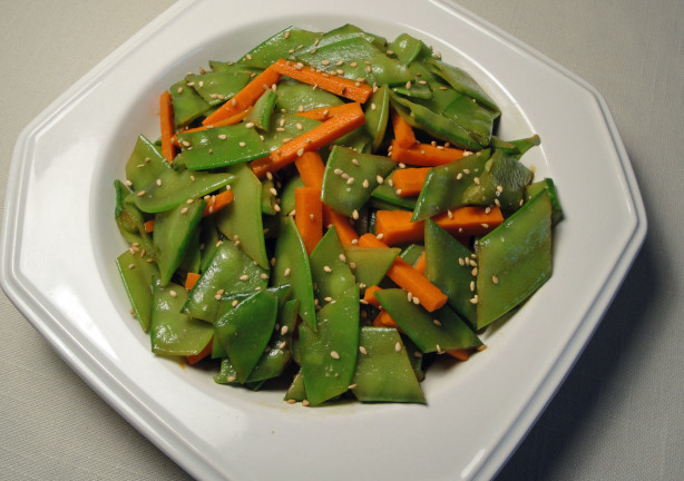 Crisp Snow Pea Salad Recipe Food Com