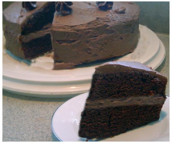Double chocolate layer cake recipe