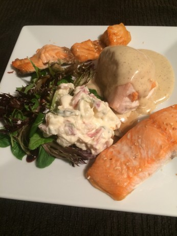Chicken Breast Stuffed With Smoked Salmon With Cheese And