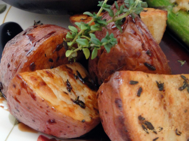 Thyme-Roasted Potato W Balsamic Vinegar Recipe - Food.com