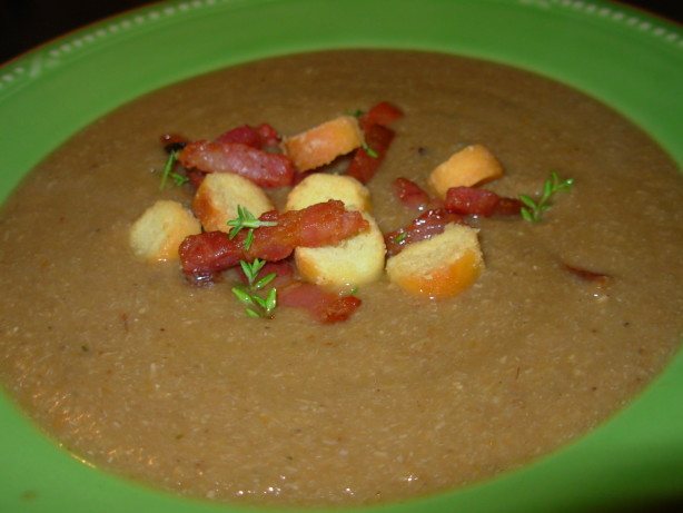 Chestnut Soup With Bacon - Veloute De Chataignes Et Bacon Recipe ...