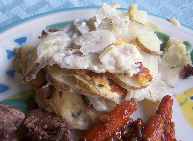 Potato, Caramelized Onion, And Goat Cheese Gratin Recipe ...
