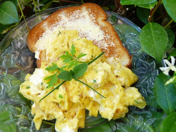 Herb Cream Cheese Scrambled Eggs Recipe - Food.com