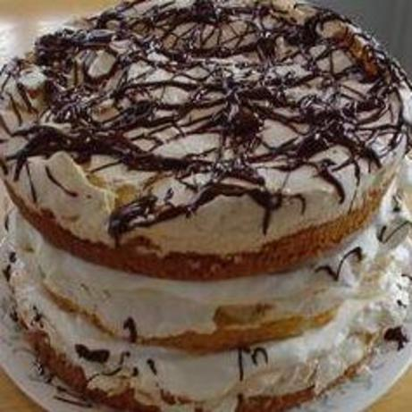 Almond Cake With Meringue And Whipped Cream Filling Recipe ...