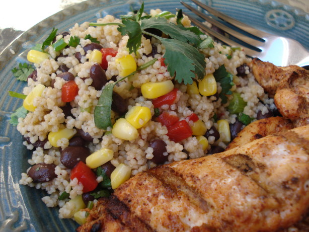 Black bean and couscous salad recipe for Couscous food recipe