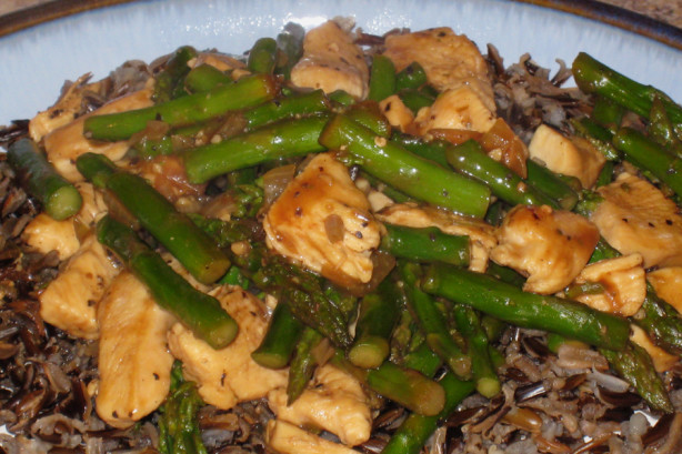 Chicken And Asparagus Over Wild Rice Recipe Food Com
