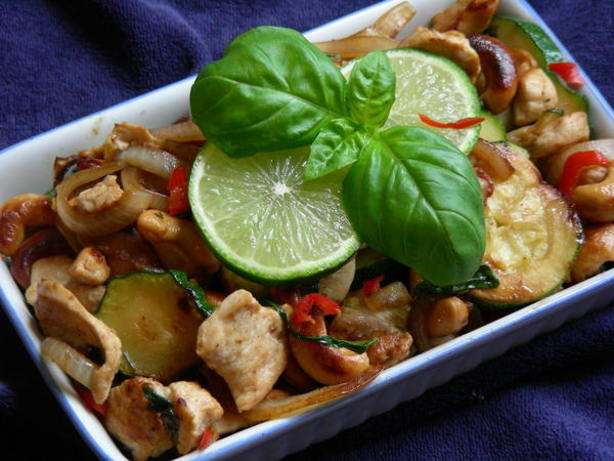 Basil Chicken And Cashew Nuts Recipe - Food.com