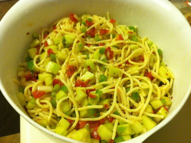 Cold Spaghetti Salad Recipe