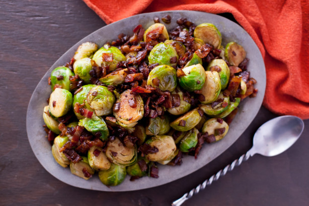 Maple Brussels Sprouts With Bacon Recipe Food Com