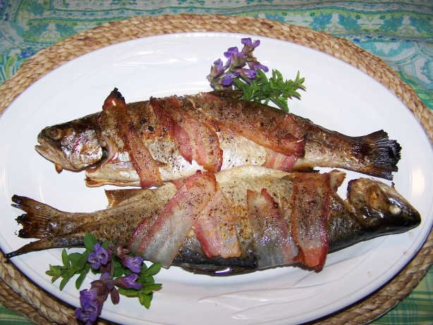 Bacon-Wrapped Trout Recipe - Food.com