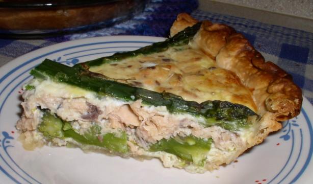 Salmon asparagus quiche recipe for Morel mushroom recipes food network