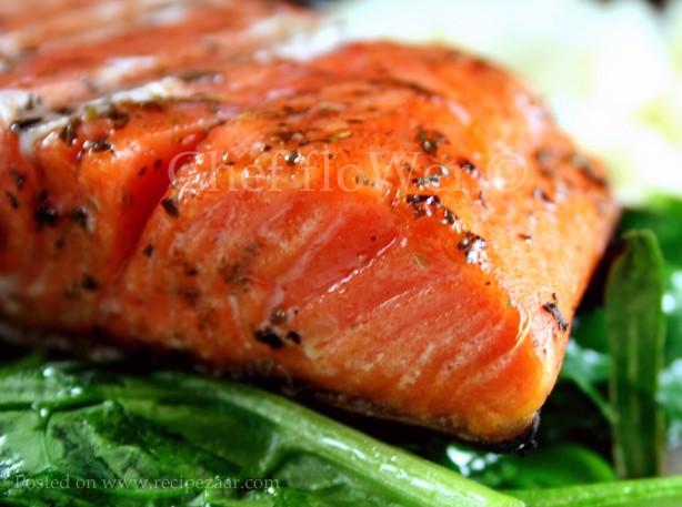pan seared herbed salmon recipe