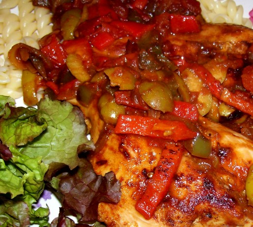 Chicken With Piquillo, Tomatoes, And Olives Recipe - Food.com