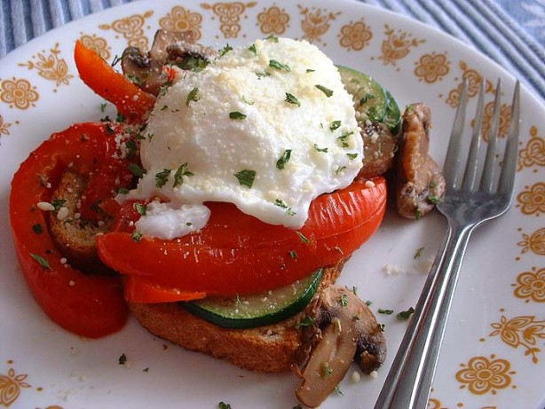 Poached Eggs On Roasted Veggies Recipe - Food.com