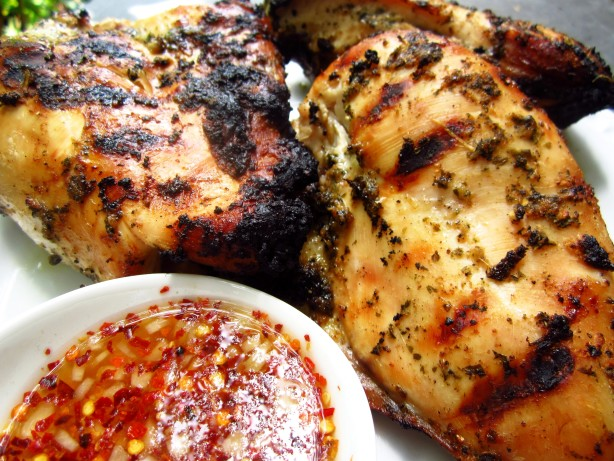 Thai-Style Grilled Chicken W Spicy Sweet And Sour Dipping Sauce Recipe ...