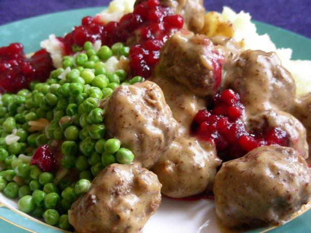 Swedish Meatballs With Lingonberry Or Cranberry Sauce Recipe - Food ...