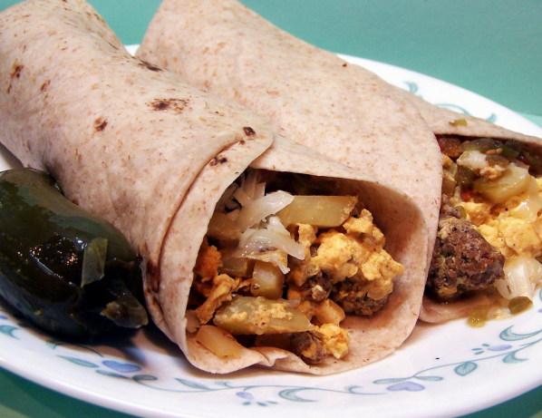 Chorizo And Egg Breakfast Burritos Recipe - Food.com