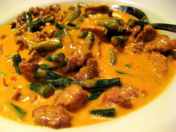 ... panang panang moo yang curried pork chops egg curry jungle curry