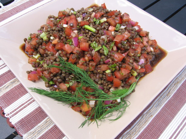 Lentil Salad With Tomatoes, Dill And Basil Recipe - Food.com