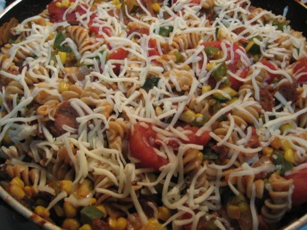 Southwest Pasta Skillet Recipe — Dishmaps