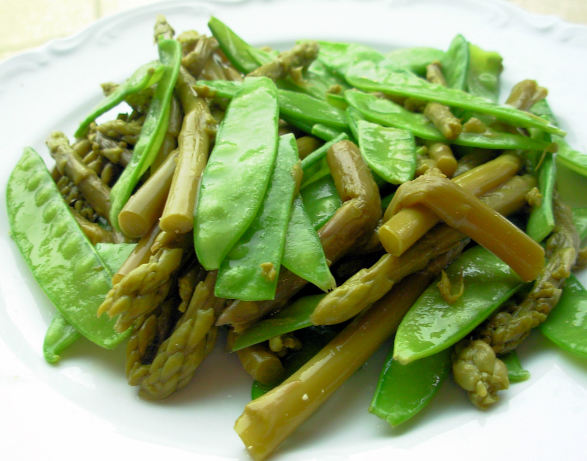 ... snap pea saute served with spicy sauteed sugar snap peas and asparagus