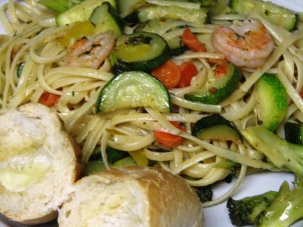 Shrimp And Pasta Primavera Recipe