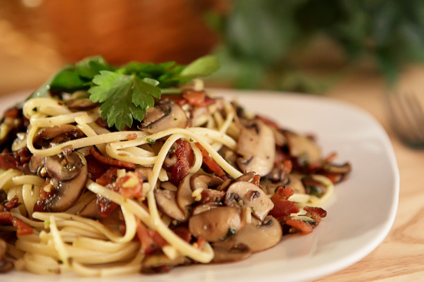 Mushroom-Bacon Pasta Recipe - Food.com