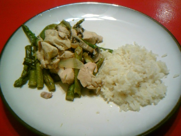 Lemon Chicken And Asparagus Over Rice Recipe Food Com