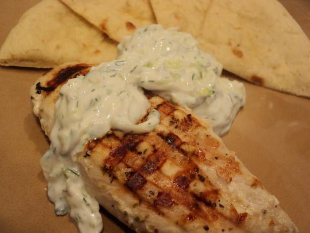 Chicken Souvlaki With Tzatziki Sauce Recipe - Healthy.Food.com