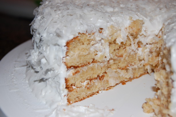 Coconut Cake With  Minute Frosting Alton Brown