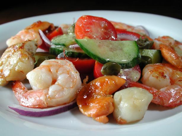 Shrimp And Scallops With Speedy Salad Recipe - Food.com