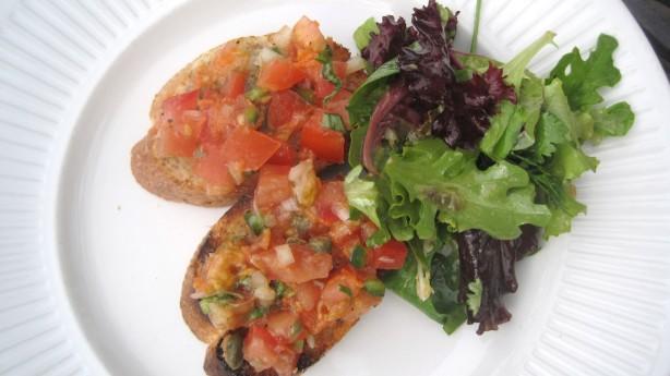 Bruschetta With Roasted Garlic And Cherry Tomatoes Recipe - Italian ...